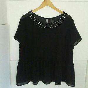 torrid Tops - TORRID Size 1 Lot of Black Sheer Dress and Top